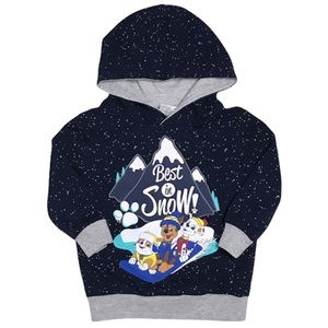 Paw Patrol 2T Toddler Blue Marshall, Chase & Rocky Hoodie Pullover Sweater